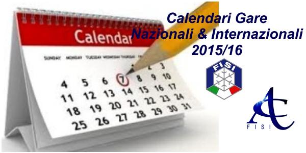 CalendariGaraNazionaliInternazionali